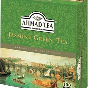 Ahmad Tea Jasmine Green Tea 100 Tagged Tea Bags