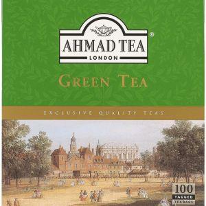 Ahmad Tea Green Tea 100 Tagged Tea Bags