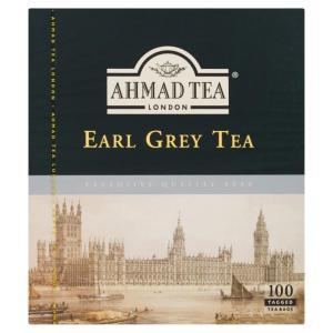 Ahmad Tea Earl Grey Tea 100 Tagged Tea Bags