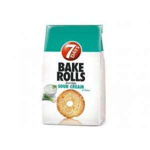 7days Bake Rolls Sour Cream & Onion 80g