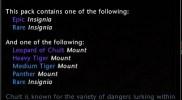 Jungle Cat Mount Pack Tooltip