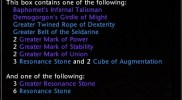 Lost Artifact Equipment Pack Tooltip
