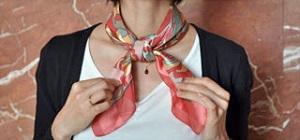 スカーフのおしゃれな巻き方_ループノット