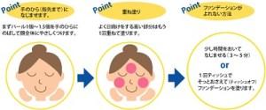 日焼け止めクリームを顔に塗るポイント