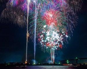 木更津港まつり花火大会の打ち上げ花火