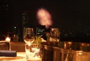 花火が見えるレストラン