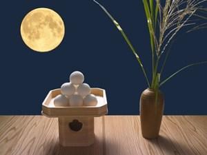 縁側の月見団子