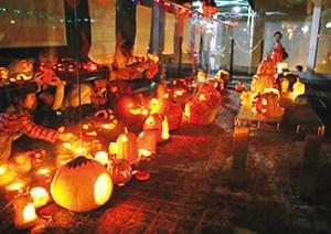 かぼちゃのライトアップ|京都北山ハロウィン