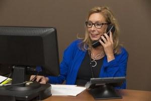 woman on call