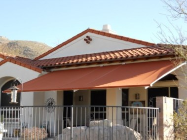 Retractable Awning Rust Fabric