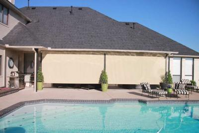 Exposed Solar Shades Poolside