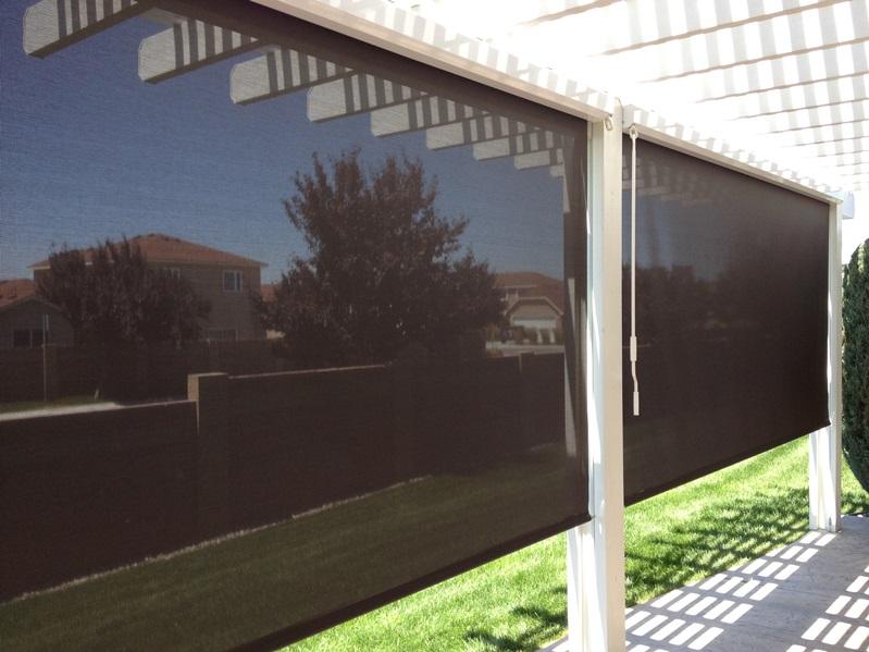 outdoor shades on gazebo