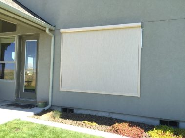 Stucco Fabric Track System Window Shade
