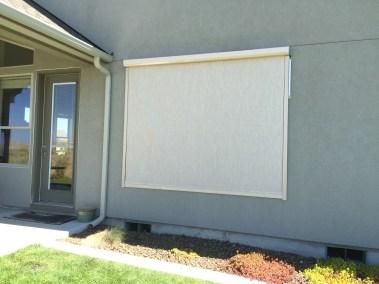 Stucco Fabric Track System Window Shade