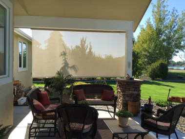 Cable Guided Stucco Shade from inside
