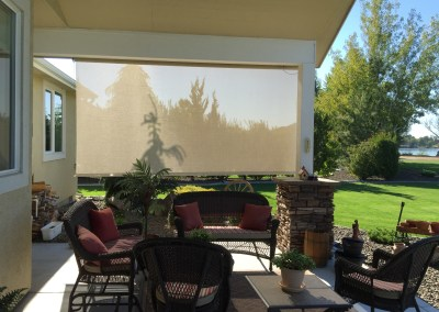Motorized Cable Guided Solar Shade