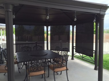 Solar Shades with Bungees Gazebo