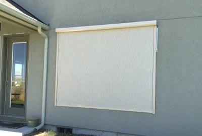 Stucco Window Solar Powered Shade