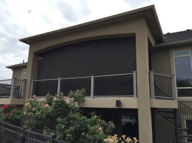 Dark Bronze Shade on Deck outside