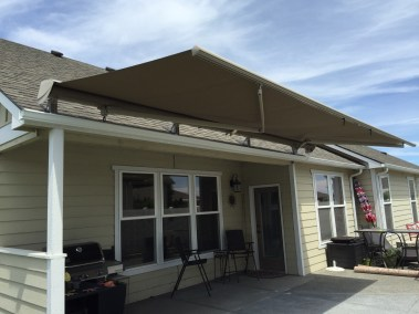 Roof Mounted  Retractable Awning Partially Opened