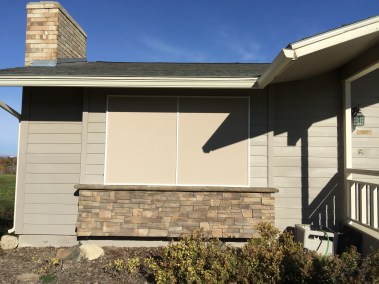 Stucco Fabric Screen on Front Window