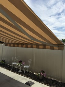 Retractable Awning lowered