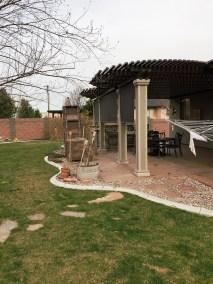 Solar Shades on Outdoor Kitchen