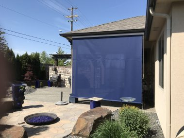 Sunbrella Ferrari 93 Navy Blue Cable Guided shade