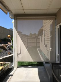 Stucco Exposed Roll Cable Patio Shade