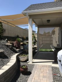 Awning with Silica Dune Fabric