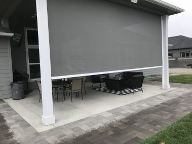 Ash Elite FRT Patio Shade Partially Down