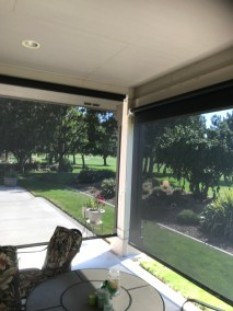 Exposed Roll Suntex 90 Black Fabric Shades