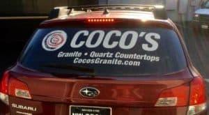 Portland Car wrap coco's
