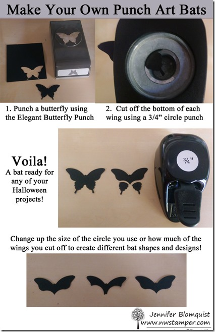 How to make a bat from butterfly punch