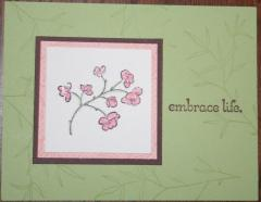One of my favorite stamp sets because it is so elegant.  Plus the colors are great and the glitter is a neat touch!