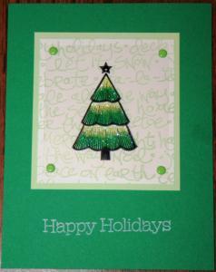Super cute card my upline Denise Rolak made.  Isn't she talented?
