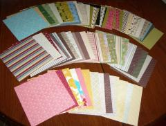 A badly fanned out view of one single paper sampler