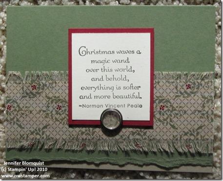 Fabric Christmas Card sm