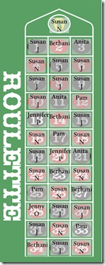 roulette board Oct 30