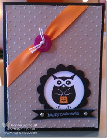 Trick or Treat Halloween Owl