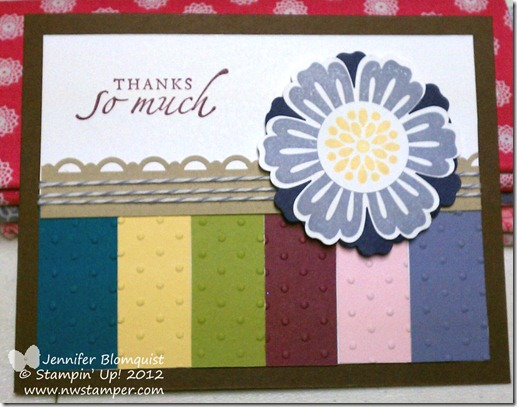 Mixed Bunch card from scrapbook sketch