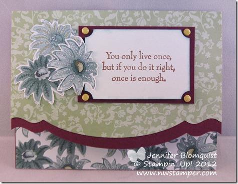 Paisley Petals Edgelit card