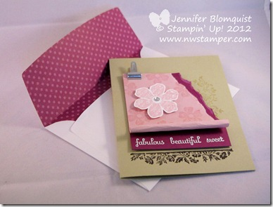 fabulous sweet mothers day card and envelope