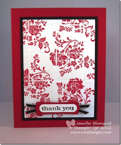 faux tiled thank you card