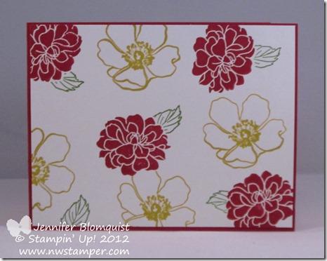 Pam Wu Fancy Florets swap card