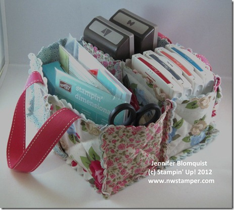stampin up fabric caddy