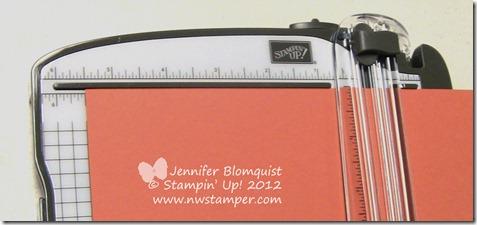 Close up of card measurement