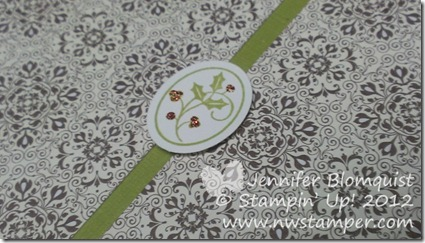 Christmas scrapbook page oval close up