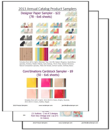 2013 Stampin' Up Annual Catalog Product Shares