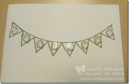 How to line up letters with photopolymer stamps on a card